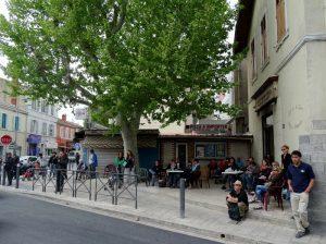 Ce jour-là, (avril 2014), la Compagnie Geneviève Sorin dansait dans les rues de Saint Antoine...